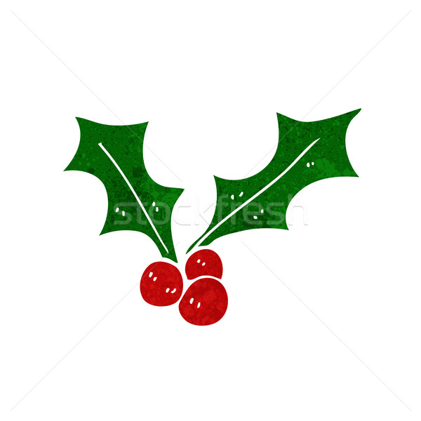cartoon christmas holly Stock photo © lineartestpilot