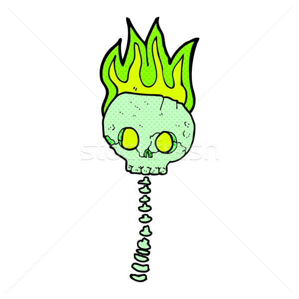 comic cartoon spooky skull and spine Stock photo © lineartestpilot