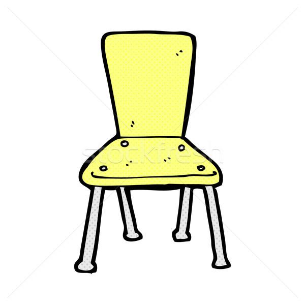 comic cartoon old school chair Stock photo © lineartestpilot