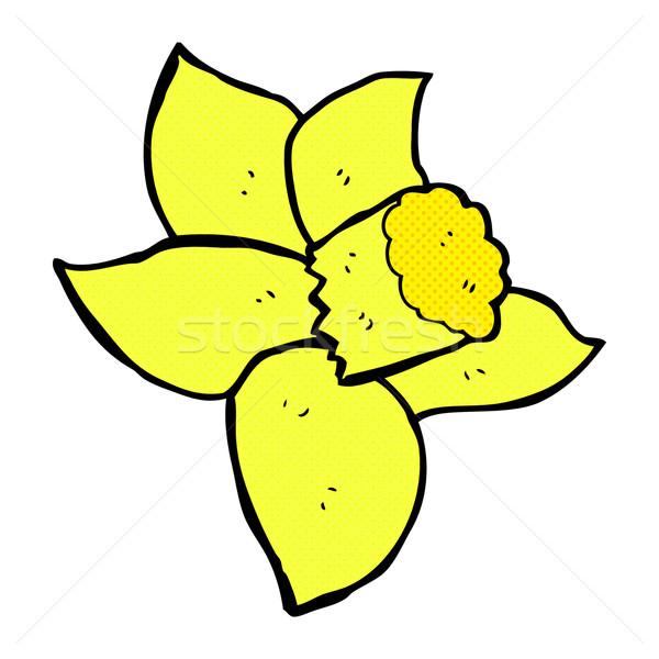 комического Cartoon Daffodil ретро стиль Сток-фото © lineartestpilot