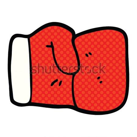 комического Cartoon боксерская перчатка ретро стиль Сток-фото © lineartestpilot