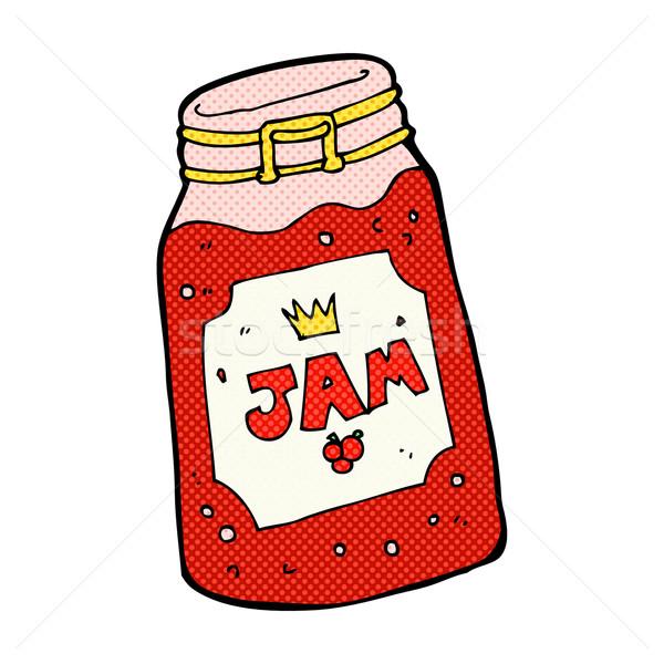 comic cartoon jar of jam Stock photo © lineartestpilot