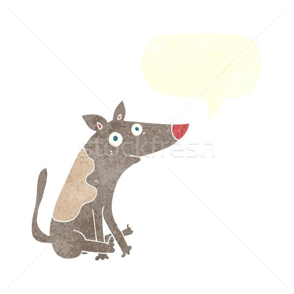 cartoon dog with speech bubble Stock photo © lineartestpilot