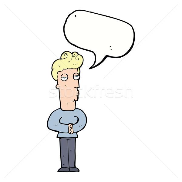 Rajz arrogáns férfi szövegbuborék kéz terv Stock fotó © lineartestpilot