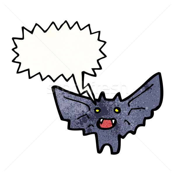 Desenho animado vampiro bat textura mão feliz Foto stock © lineartestpilot