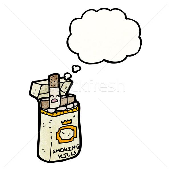 cartoon cigarette packet Stock photo © lineartestpilot