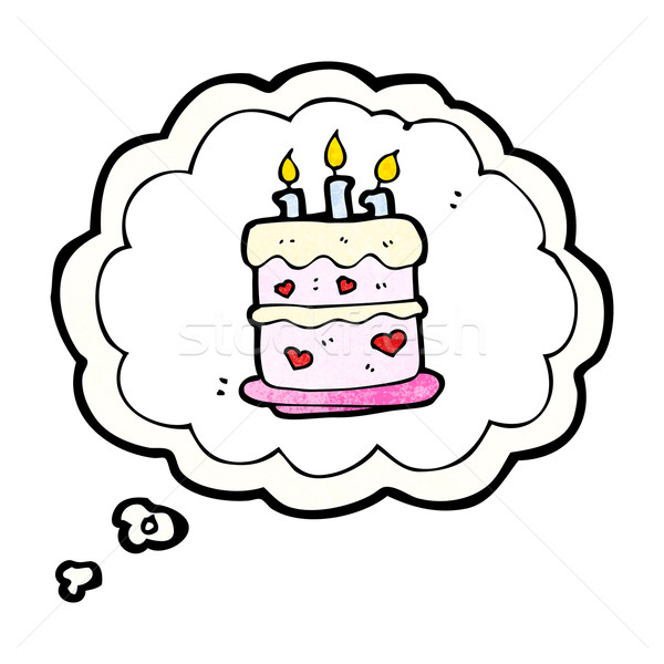 Stock photo: birthday cake dream sign