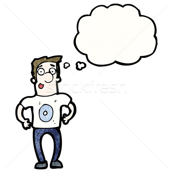 Cartoon человека числа нулевой рубашку ретро Сток-фото © lineartestpilot