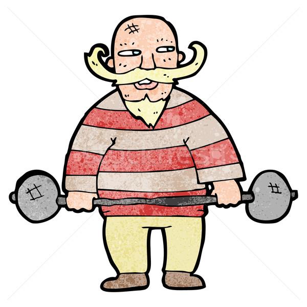 cartoon circus strongman Stock photo © lineartestpilot
