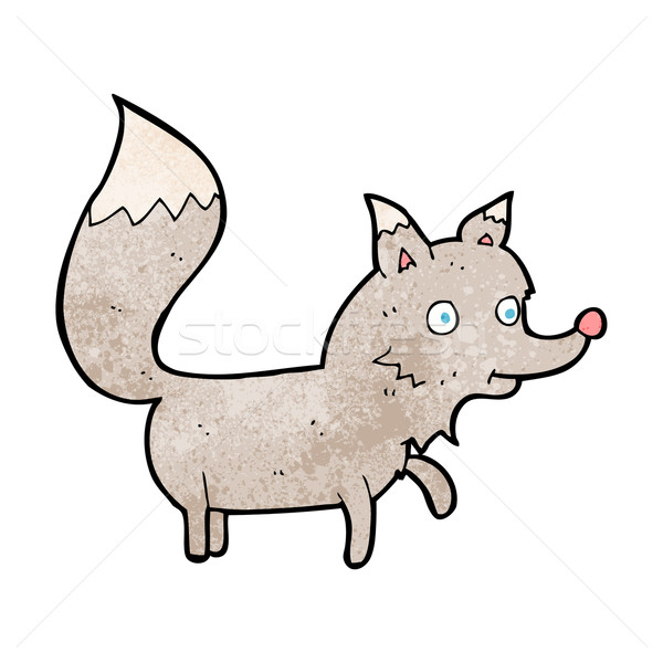 Cartoon wolf welp ontwerp kunst retro Stockfoto © lineartestpilot