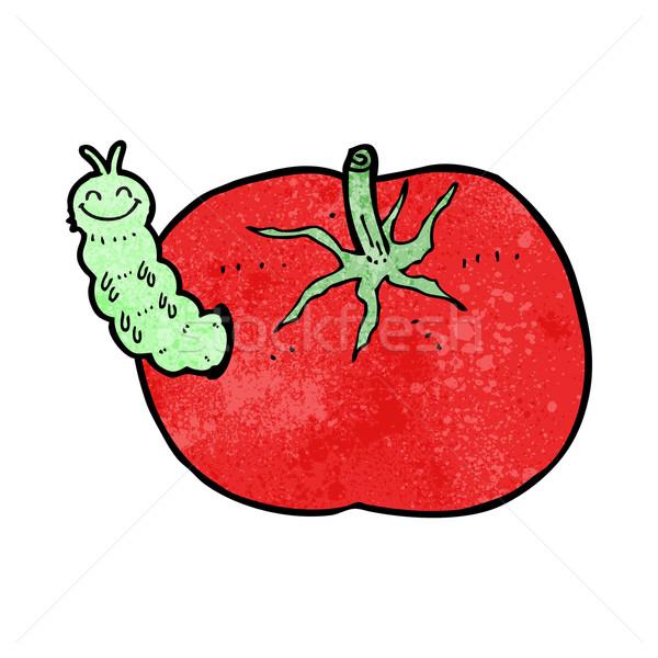 Desenho animado tomates bicho projeto arte retro Foto stock © lineartestpilot