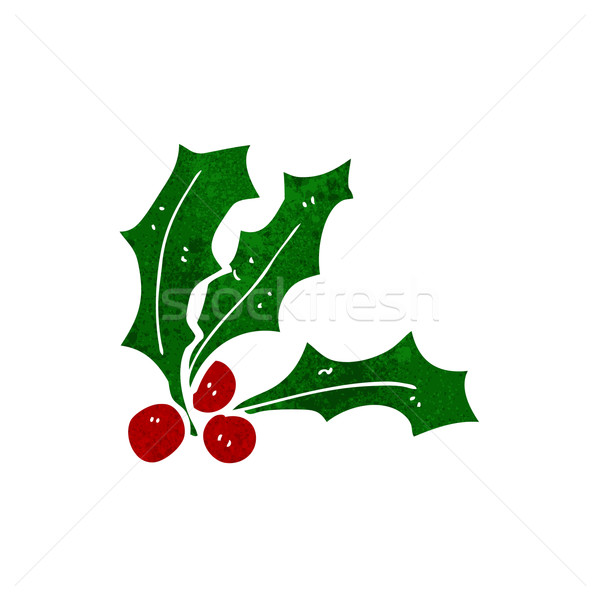 Desen animat proiect artă retro amuzant Crăciun Imagine de stoc © lineartestpilot