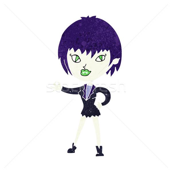 Cartoon wampira dziewczyna kobieta projektu sztuki Zdjęcia stock © lineartestpilot