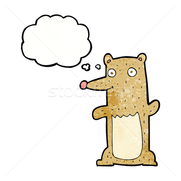 funny cartoon bear with thought bubble Stock photo © lineartestpilot