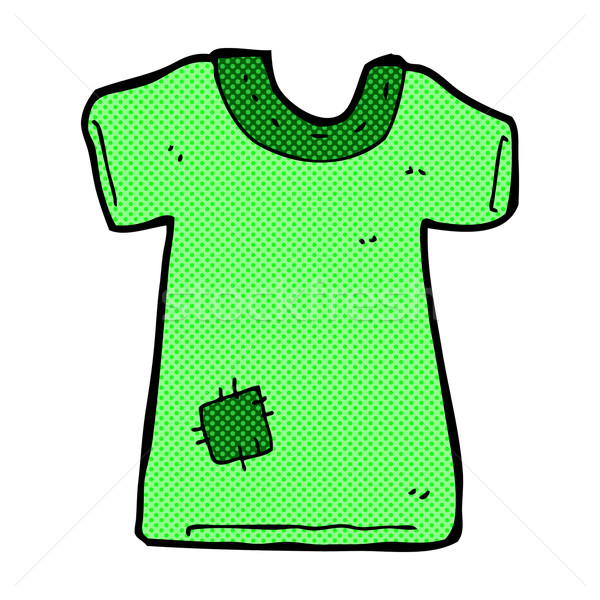 comic cartoon patched old tee shirt Stock photo © lineartestpilot