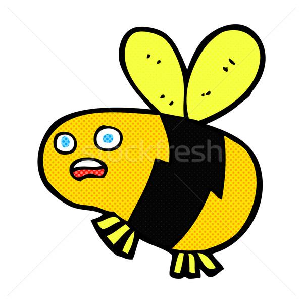 comic cartoon bee Stock photo © lineartestpilot
