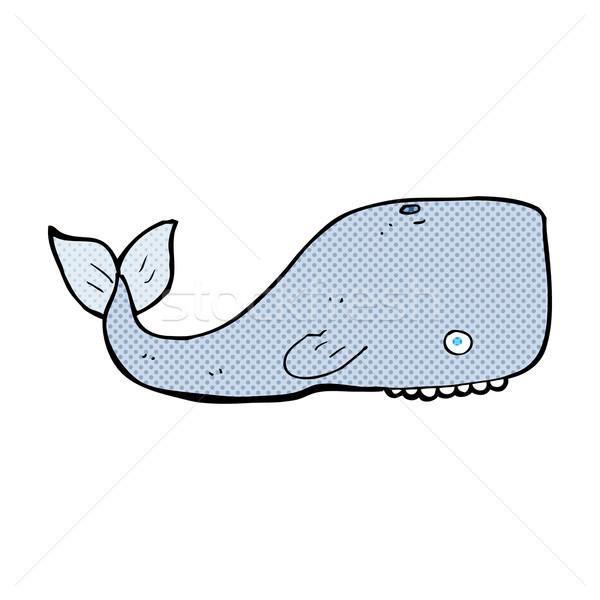 Képregény rajz bálna retro képregény stílus Stock fotó © lineartestpilot