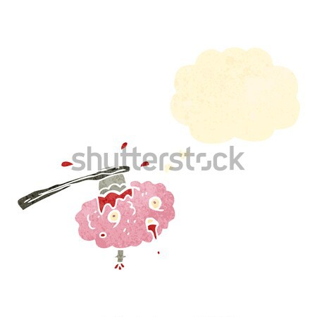 cartoon woman with eyes closed with thought bubble Stock photo © lineartestpilot