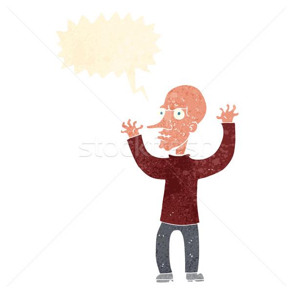 cartoon mean man with speech bubble Stock photo © lineartestpilot
