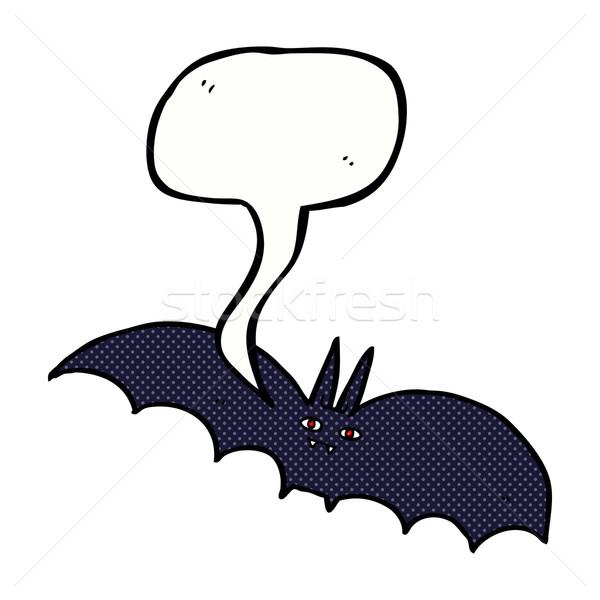 Cartoon vampiro bate bocadillo mano diseno Foto stock © lineartestpilot