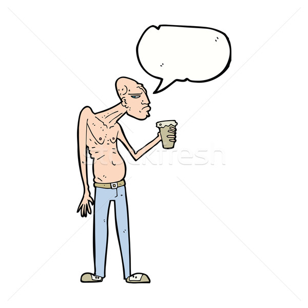 cartoon hooligan with speech bubble Stock photo © lineartestpilot