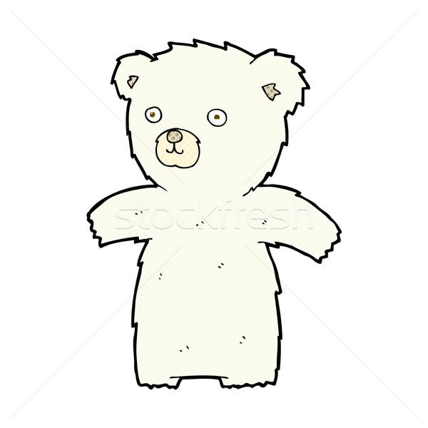 Cute комического Cartoon полярный медведь ретро Сток-фото © lineartestpilot