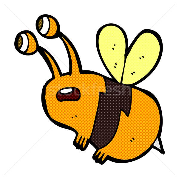 comic cartoon frightened bee Stock photo © lineartestpilot