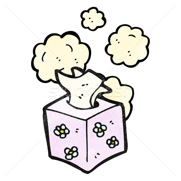 box of tissues cartoon Stock photo © lineartestpilot