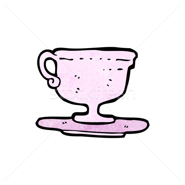 Cartoon чайная чашка ретро Кубок рисунок Cute Сток-фото © lineartestpilot