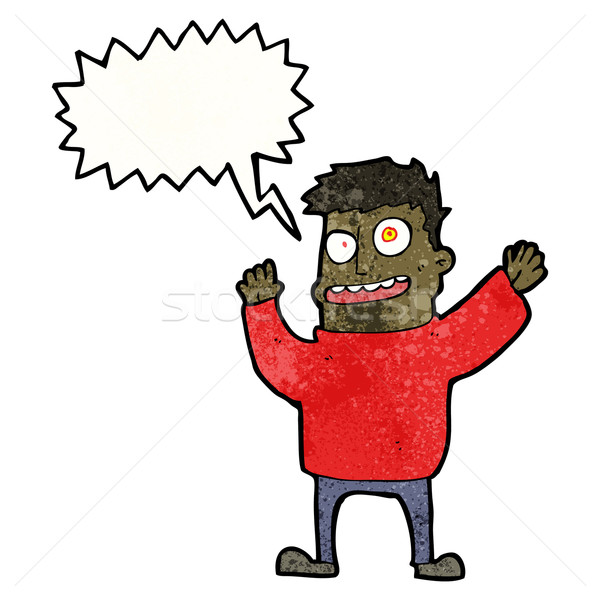 cartoon man with speech bubble Stock photo © lineartestpilot