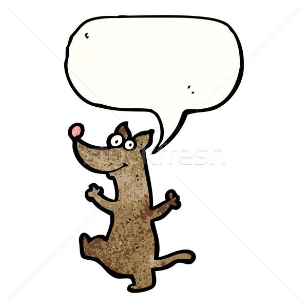 Сток-фото: Cartoon · танцы · собака · ретро · рисунок · Cute