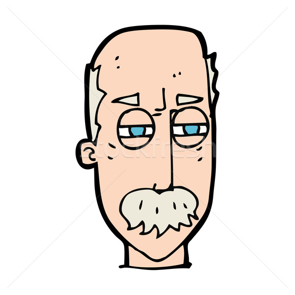 Desenho animado irritado velho mão cara homem Foto stock © lineartestpilot