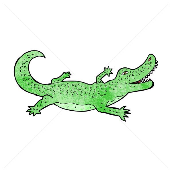 Rajz krokodil terv művészet állatok retro Stock fotó © lineartestpilot