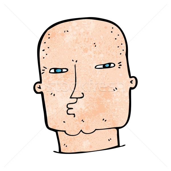 Karikatür kel sert adam adam dizayn Stok fotoğraf © lineartestpilot