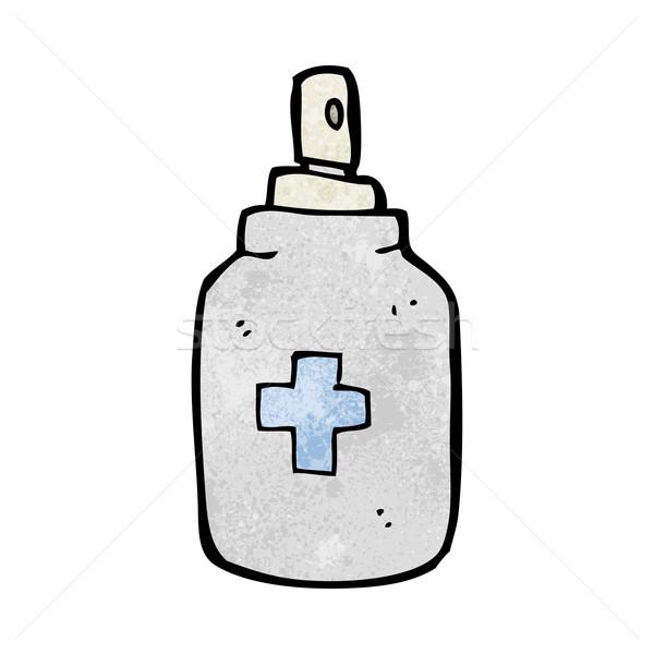 Desenho animado spray mão projeto louco clipe Foto stock © lineartestpilot