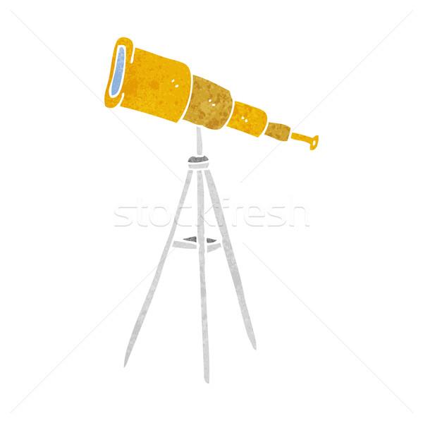 cartoon telescope Stock photo © lineartestpilot