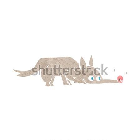 Cartoon собака полу стороны дизайна волка Сток-фото © lineartestpilot