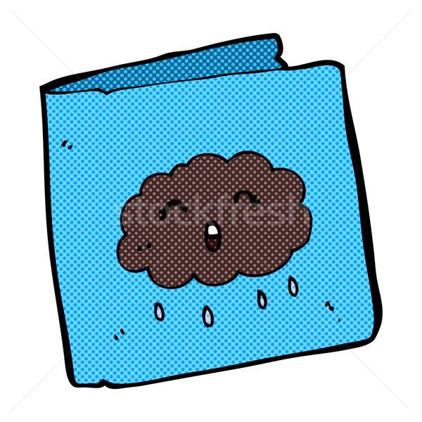 comic cartoon card with cloud pattern Stock photo © lineartestpilot