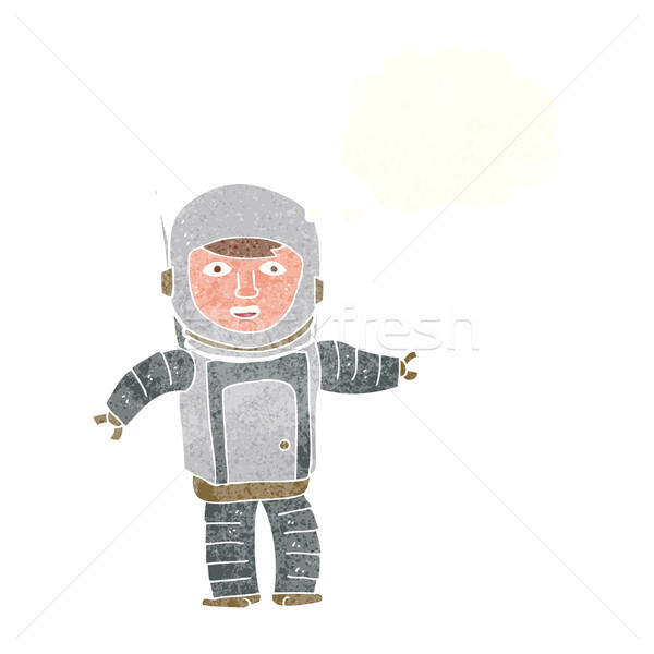 cartoon astronaut with thought bubble Stock photo © lineartestpilot