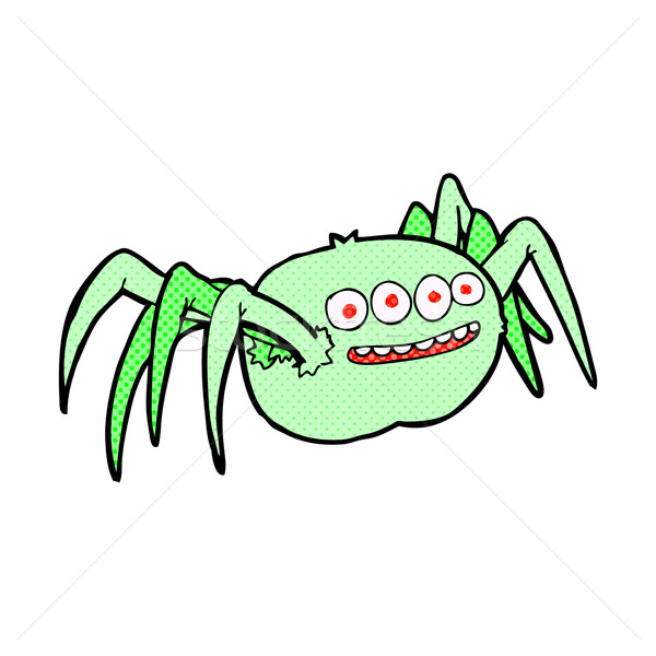 comic cartoon spooky spider Stock photo © lineartestpilot
