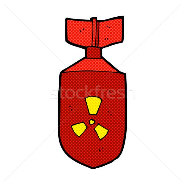 комического Cartoon ядерной бомба ретро Сток-фото © lineartestpilot