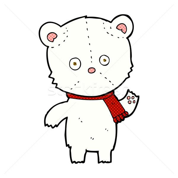 комического Cartoon полярный медведь ретро Сток-фото © lineartestpilot