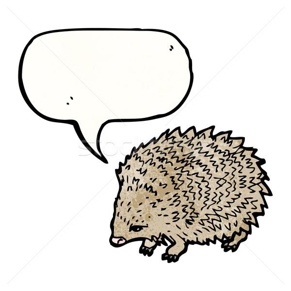 hedgehog with speech bubble illustration Stock photo © lineartestpilot