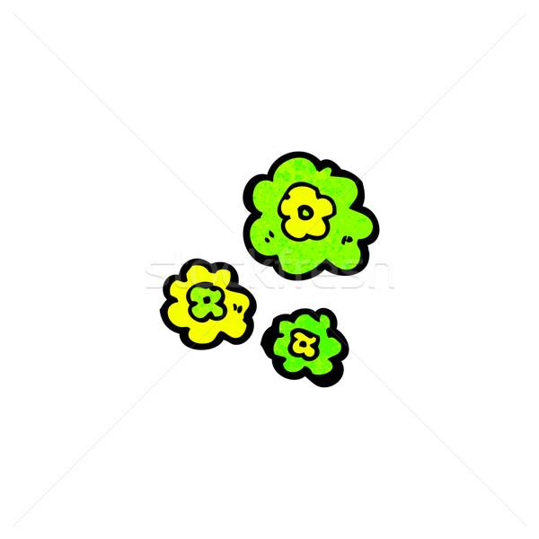 cartoon green puffs of smoke Stock photo © lineartestpilot