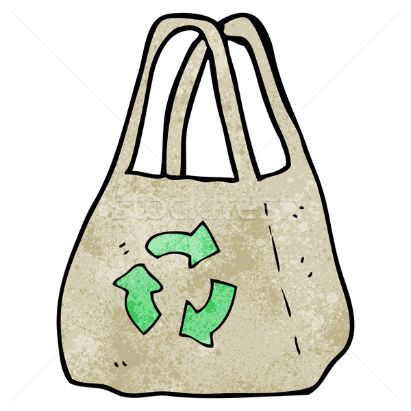 reusable bag cartoon Stock photo © lineartestpilot