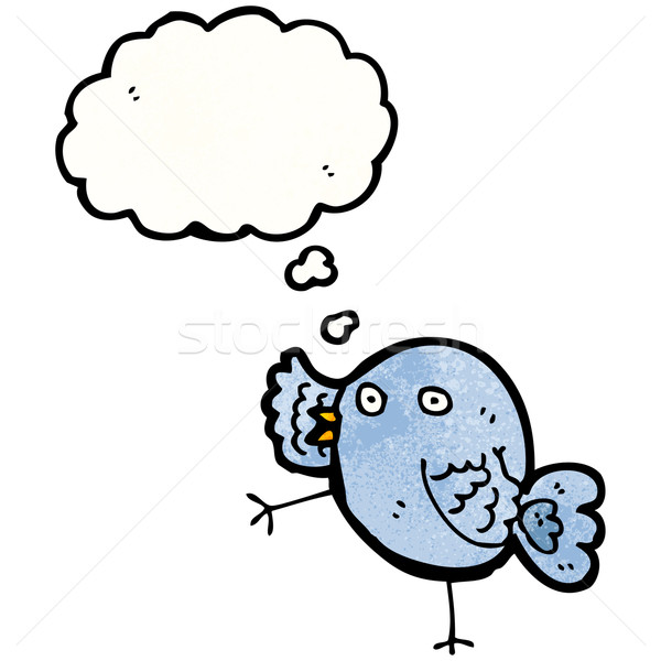 funny cartoon bird Stock photo © lineartestpilot