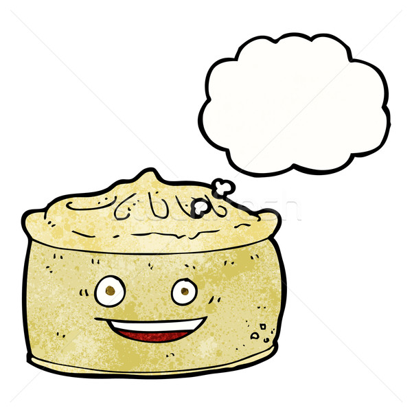 cartoon pie with thought bubble Stock photo © lineartestpilot