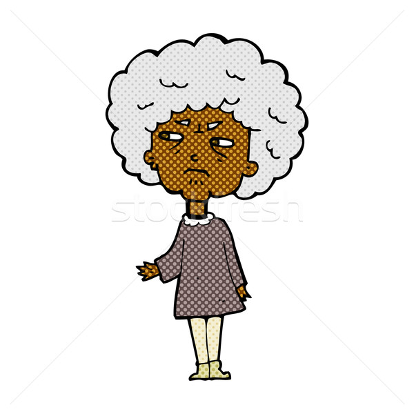 comic cartoon old lady Stock photo © lineartestpilot