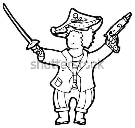 comic cartoon big game hunter Stock photo © lineartestpilot