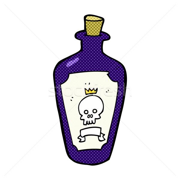 Stock photo: comic cartoon poison